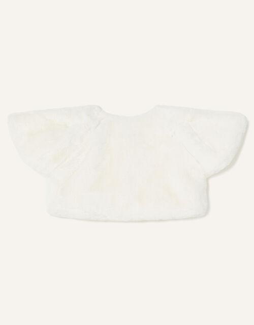 Baby Faux Fur Shrug , Ivory (IVORY), large