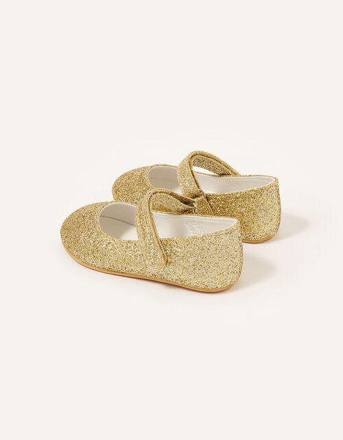 Glitter Walker Shoes, Gold (GOLD), large