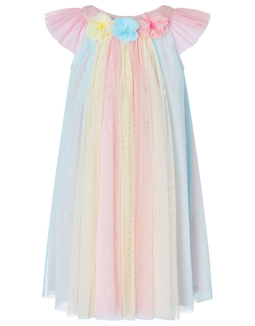 Baby Nancy Rainbow Tulle Dress, Pink (PINK), large