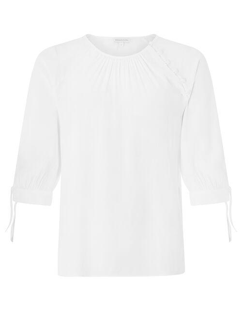 Josiah Tie Sleeve Blouse, Ivory (IVORY), large