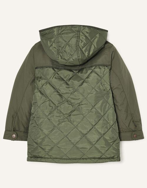 Hooded Parka Coat, Green (KHAKI), large