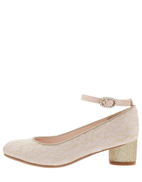 Honey Lace Sparkle Shoes, Pink (PALE PINK), large