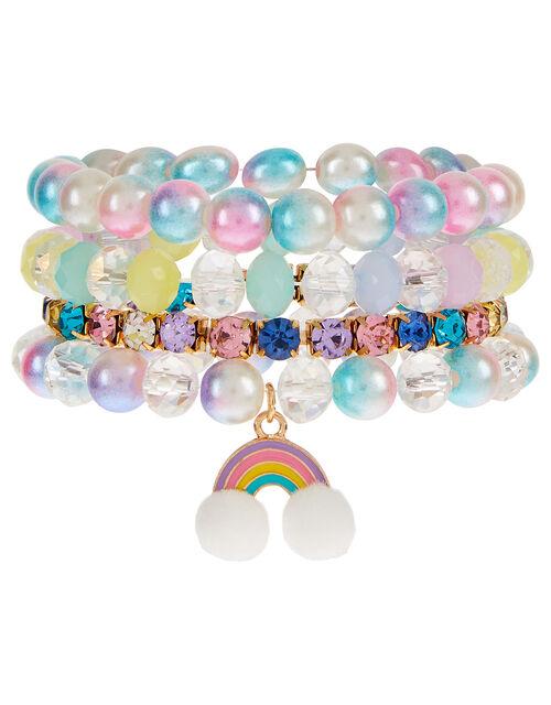 Rainbow Sparkle Stretch Bracelet Set, , large