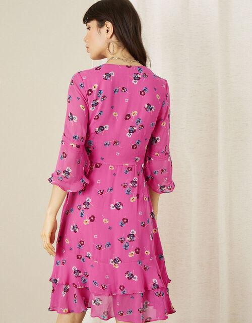 Helen Dealtry Nicamille Floral Wrap Dress, Pink (PINK), large