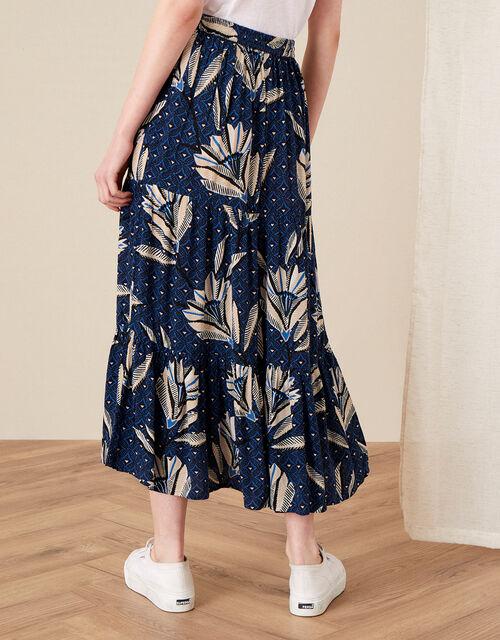 Zola Printed Maxi Skirt, Blue (NAVY), large