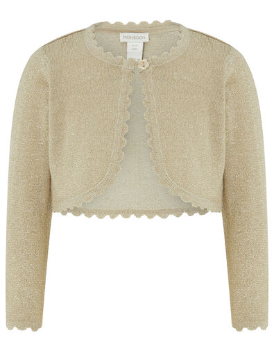 Baby Niamh Sparkle Knit Cardigan Gold, Gold (GOLD), large
