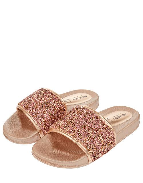 Demi Gem Sliders, Gold (ROSE GOLD), large