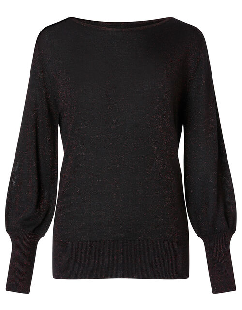 Sparkle Jumper with Sustainable Viscose, Red (BERRY), large