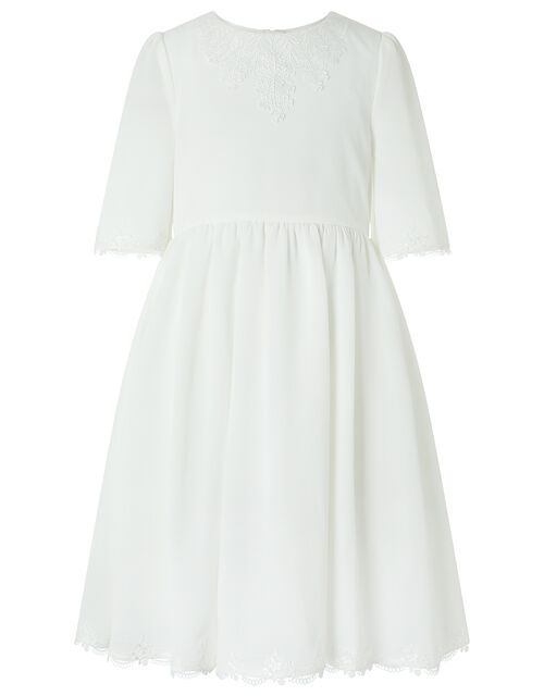 Fontaine Tunic Dress with Lace Applique, Ivory (IVORY), large