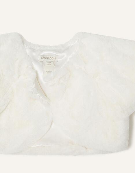 Baby Faux Fur Shrug  Ivory, Ivory (IVORY), large