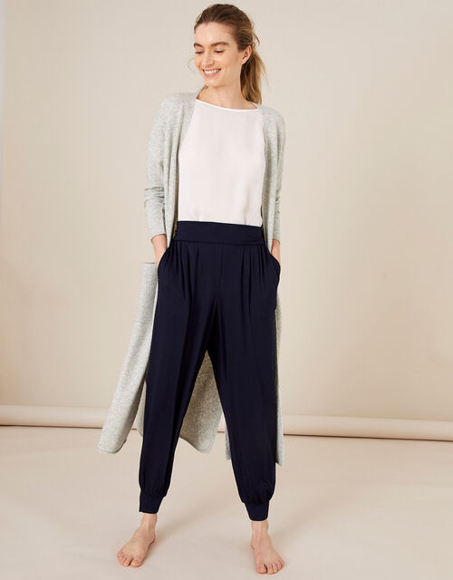 LOUNGE Jersey Hareem Trousers, Blue (NAVY), large