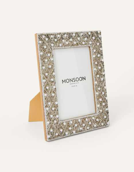 Embellished Pearl Photo Frame, , large