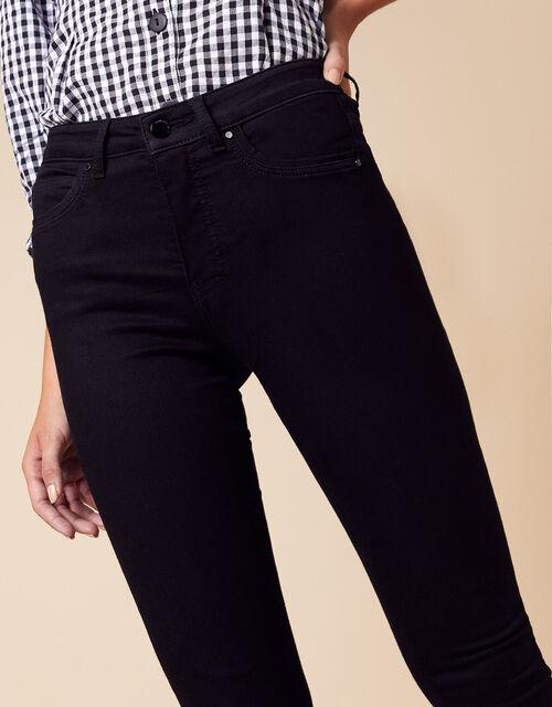 Nadine Regular Length Jeans with Organic Cotton, Black (BLACK), large