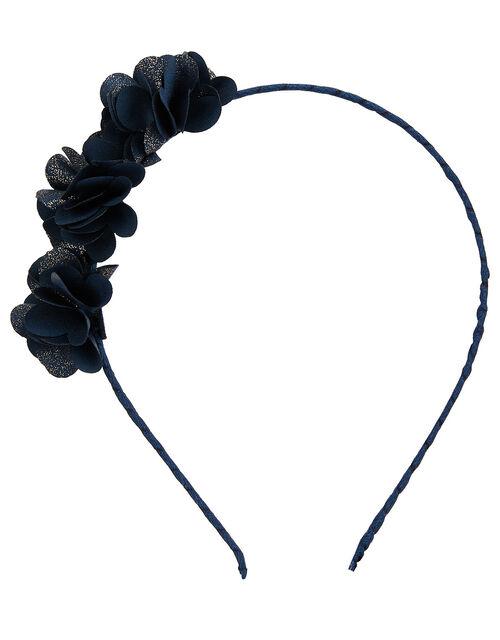 Triple Shimmer Pom-Pom Headband, , large