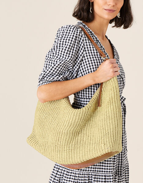 Sienna Straw Tote Bag , , large