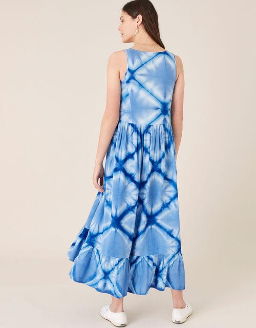 Zaria Tie Dye Maxi Dress, Blue (BLUE), large