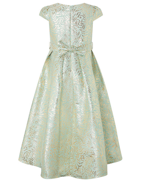 Avelina Jacquard High-Low Occasion Dress, Green (MINT), large
