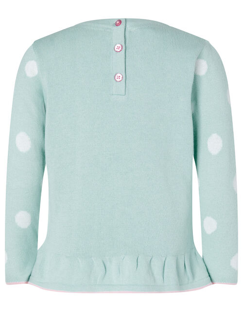 Baby Bunny Knit Top and Leggings Set, Blue (AQUA), large