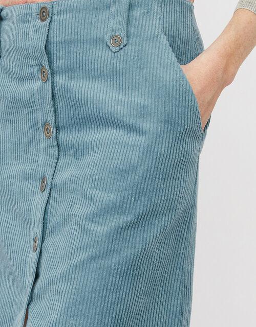 Jessica Jumbo Cord Skirt, Blue (BLUE), large