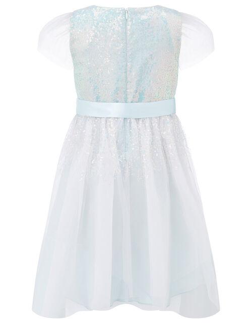Sequin Shimmer Dress, Blue (PALE BLUE), large
