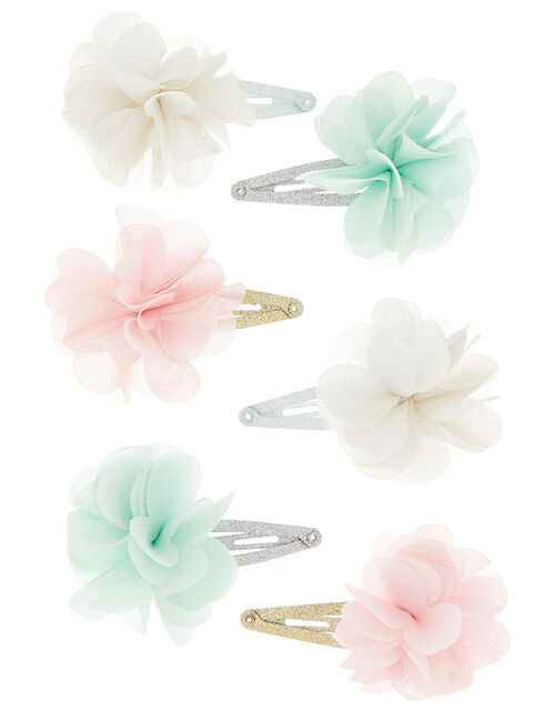 Shimmer Flower and Butterfly Hair Clip Set, , large
