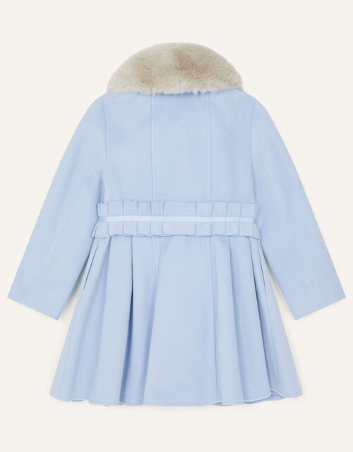 Ruffle Waist Coat, Blue (PALE BLUE), large