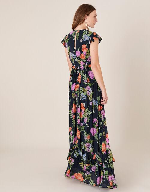 Silvia Floral Print Maxi Dress, Blue (NAVY), large
