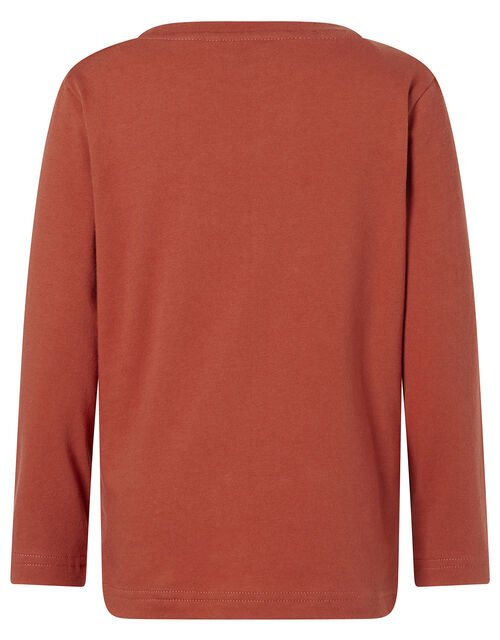 Dinosaur Long-Sleeve T-shirt, Red (RED), large