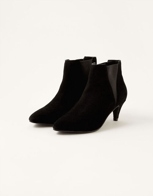 Serenity Suede Point Ankle Boots, Black (BLACK), large