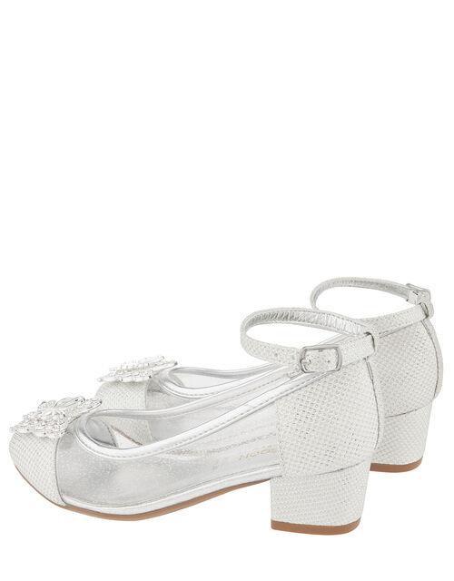 Larissa Butterfly Princess Shoe, Silver (SILVER), large