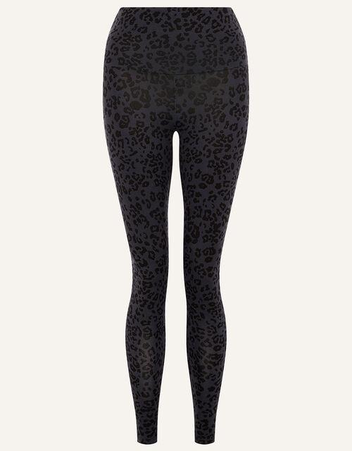 LOUNGE Animal Print Leggings, Grey (GREY), large
