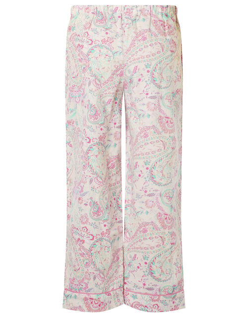 Paisley Flannel PJ Set in Organic Cotton, Pink (PINK), large
