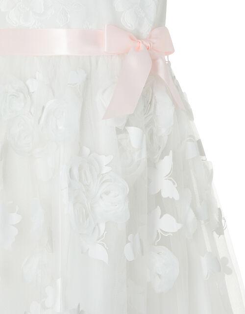 Leilani Floral Butterfly Hanky Hem Dress, Ivory (IVORY), large