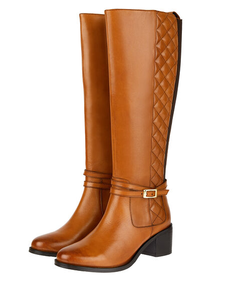 Leather Riding Boots Tan, Tan (TAN), large