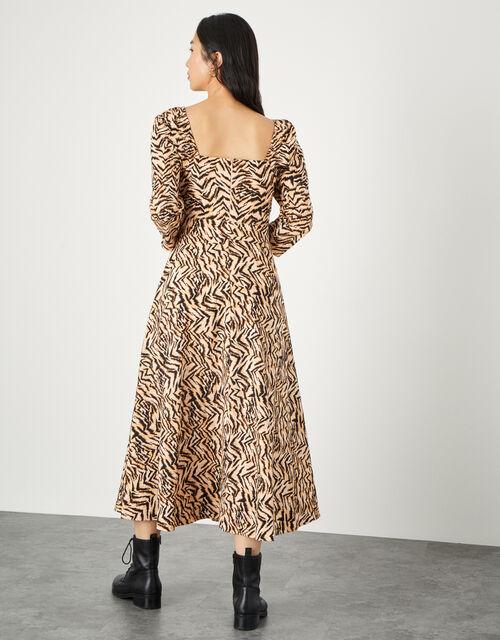 Angelina Animal Square Neck Dress , Camel (CAMEL), large