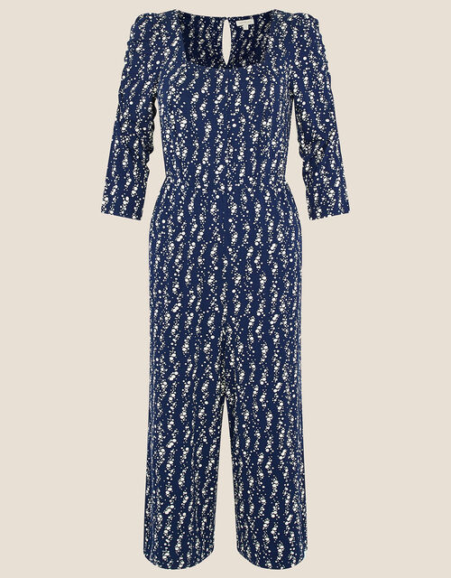 Dawn Spot Print Jumpsuit, Blue (NAVY), large