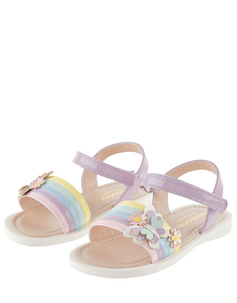 Baby Butterfly Rainbow Sandals Multi, Multi (MULTI), large