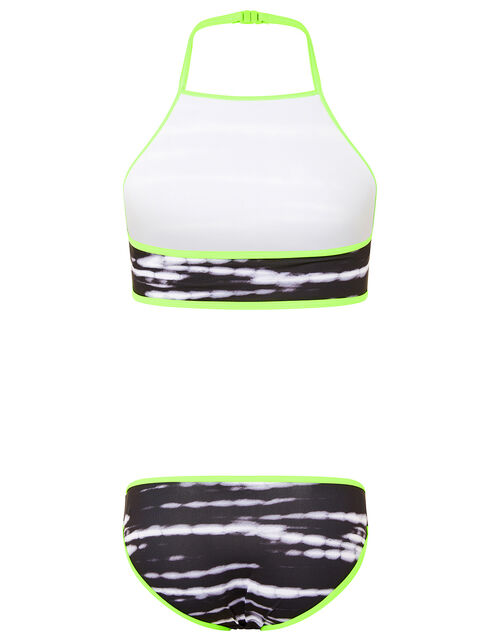 Tie Dye Bikini Set, Black (BLACK), large