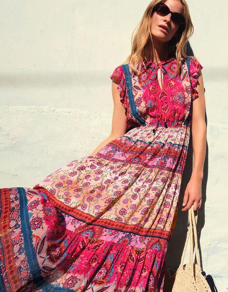 Tamalia Printed Maxi Dress LENZING™ ECOVERO™ Pink, Pink (PINK), large
