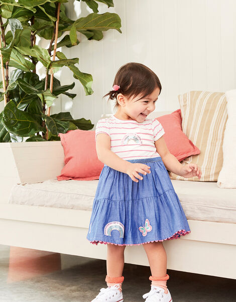 Baby Sequin Rainbow 2-in-1 Dress Pink, Pink (PINK), large
