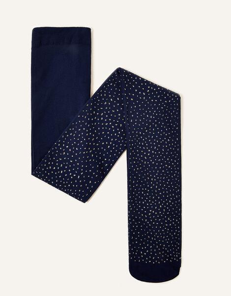 Fleck Tights Blue, Blue (NAVY), large