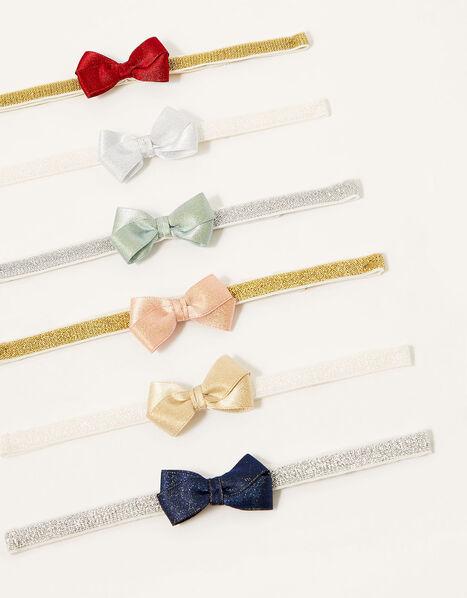 Baby Shimmer Bow Bando Set, , large