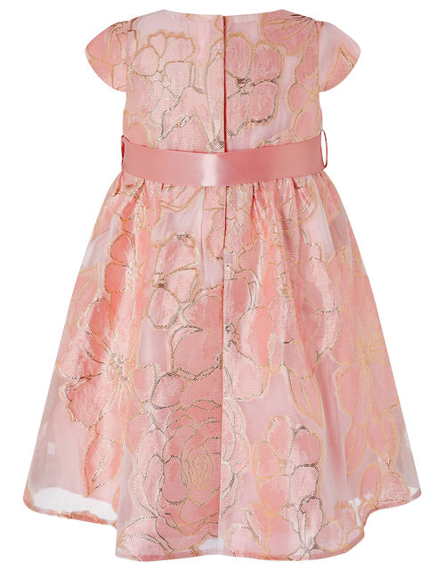 Baby Chelsea Floral Jacquard Dress, Pink (PINK), large