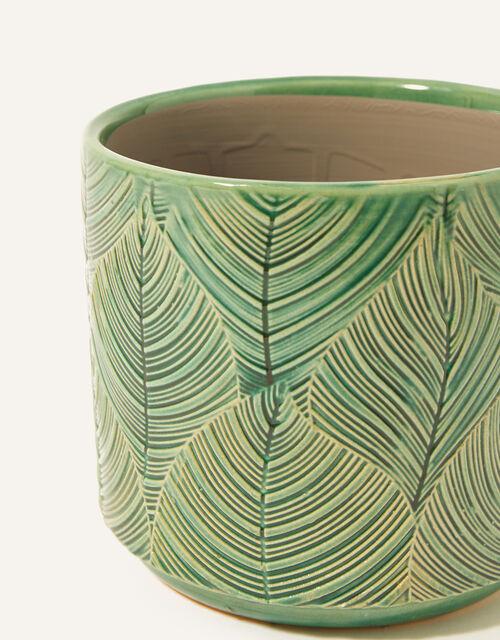 Tropical Ceramic Flower Pot, , large