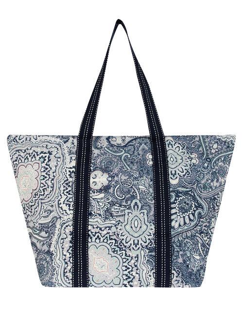 Patricia Paisley Print Canvas Tote Bag, , large
