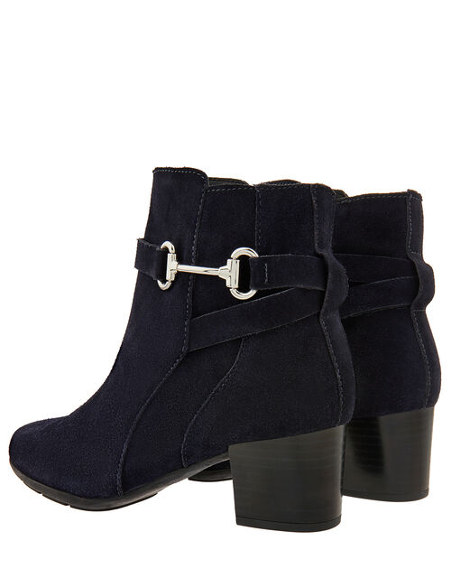 Callie Suede Comfort Ankle Boots, Navy, large