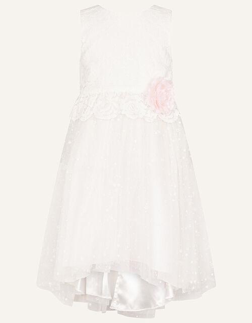 Nieve Lace Bridesmaid Dress, Ivory (IVORY), large