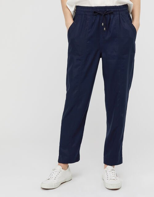 Harriet Tapered Joggers in LENZING™ TENCEL™, Blue (NAVY), large