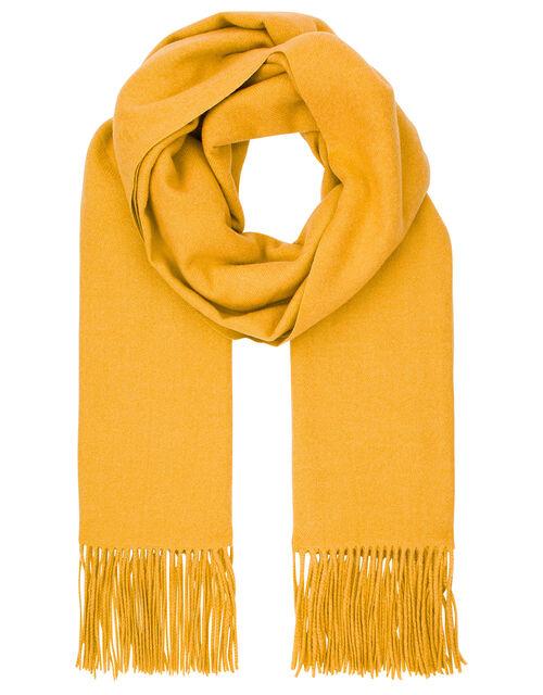 Super Soft Plain Knit Scarf, Yellow (OCHRE), large
