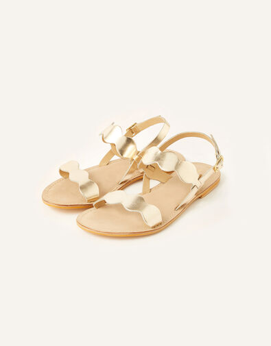 Marley Metallic Leather Sandals Gold, Gold (GOLD), large